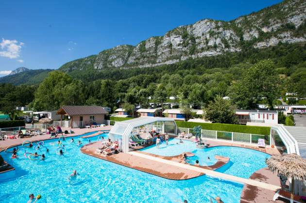 Aerial swimming pool Camping Les Fontaines